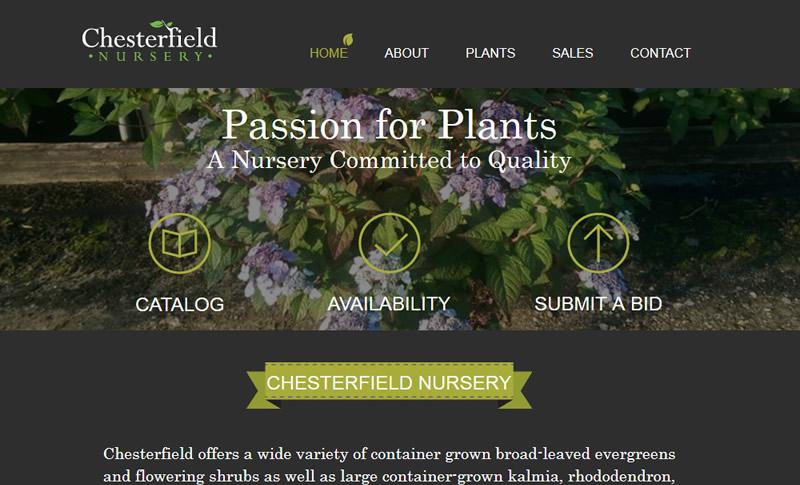 Website Design For Garden Centers Whole Nurseries